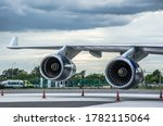 747 Wing With Turbofan Jet...