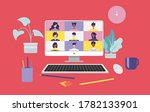 work from home and work from... | Shutterstock .eps vector #1782133901
