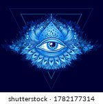 abstract symbol of all seeing... | Shutterstock .eps vector #1782177314