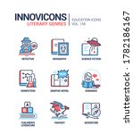 literary genres   line design... | Shutterstock .eps vector #1782186167