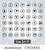 Stock vector simple icon set for web design 178219331