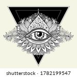 abstract symbol of all seeing... | Shutterstock .eps vector #1782199547