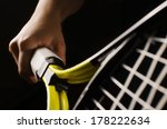 hand on grip and swinging a... | Shutterstock . vector #178222634