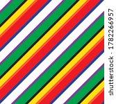 rainbow diagonal striped... | Shutterstock .eps vector #1782266957