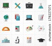 education icons set   Shutterstock .eps vector #178227371