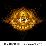 abstract symbol of all seeing... | Shutterstock .eps vector #1782276947
