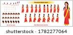 indian girl character design... | Shutterstock .eps vector #1782277064