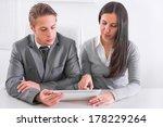 business team working in office | Shutterstock . vector #178229264