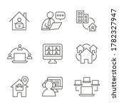 remote work icon set w work... | Shutterstock .eps vector #1782327947