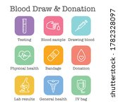 blood testing and work icon set ... | Shutterstock .eps vector #1782328097