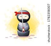 Black Ninja Kokeshi Doll...