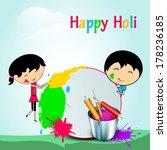 indian festival happy holi... | Shutterstock . vector #178236185