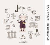 cute vector alphabet profession.... | Shutterstock .eps vector #178237721