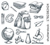 school supplies and education... | Shutterstock .eps vector #1782382424