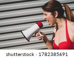 Red Haired Caucasian Woman In A ...