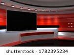 tv studio. news studio. the... | Shutterstock . vector #1782395234
