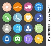 flat color style medical icons... | Shutterstock .eps vector #178241249