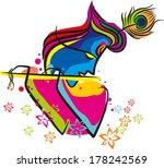 lord krishna flute | Shutterstock .eps vector #178242569