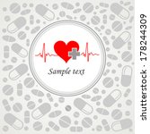 heart cardiogram with heart.... | Shutterstock .eps vector #178244309