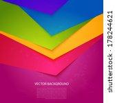 bright  colorful stripe. vector ... | Shutterstock .eps vector #178244621