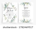 wedding invitation card... | Shutterstock .eps vector #1782469517
