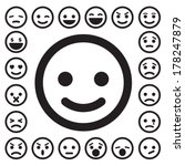 smiley faces icons set... | Shutterstock .eps vector #178247879