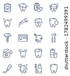 Dental Care Line Icon Set....