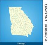 vector map of the georgia | Shutterstock .eps vector #1782529061