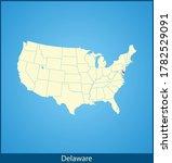 vector map of the delaware | Shutterstock .eps vector #1782529091