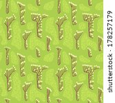 seamless pattern with branch... | Shutterstock .eps vector #178257179