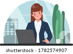 businesswoman working at office ... | Shutterstock .eps vector #1782574907