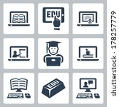 vector online education icons... | Shutterstock .eps vector #178257779