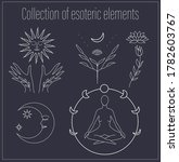 set of hand drawn esoteric... | Shutterstock .eps vector #1782603767