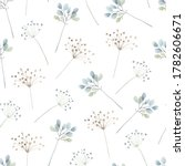 watercolor floral seamless... | Shutterstock . vector #1782606671