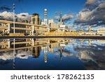 Kobe, Japan city skyline viewed from the Harborland district. - stock photo