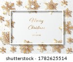 christmas white background with ... | Shutterstock .eps vector #1782625514