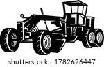 vintage road grader motor...   Shutterstock .eps vector #1782626447