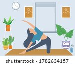 young woman character doing...   Shutterstock .eps vector #1782634157
