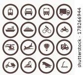 transportation icons design... | Shutterstock .eps vector #178266944