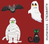 Set Of Halloween Characters....