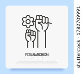 ecoanarchism thin line icon.... | Shutterstock .eps vector #1782709991