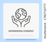 save planet. hands holding... | Shutterstock .eps vector #1782710777