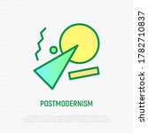 postmodernism thin line icon.... | Shutterstock .eps vector #1782710837