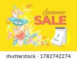 summer sale banner with... | Shutterstock . vector #1782742274