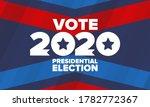 presidential election 2020 in...   Shutterstock .eps vector #1782772367