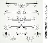 vintage scroll vignettes ... | Shutterstock .eps vector #178278257