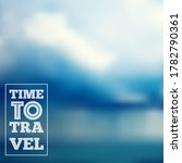 time to travel lettering on... | Shutterstock .eps vector #1782790361