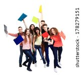 group student with notebook... | Shutterstock . vector #178279151