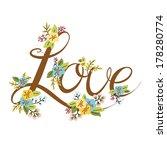 vector wedding design element... | Shutterstock .eps vector #178280774