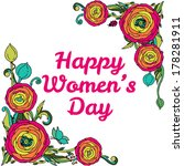 womans day vector greeting card ... | Shutterstock .eps vector #178281911